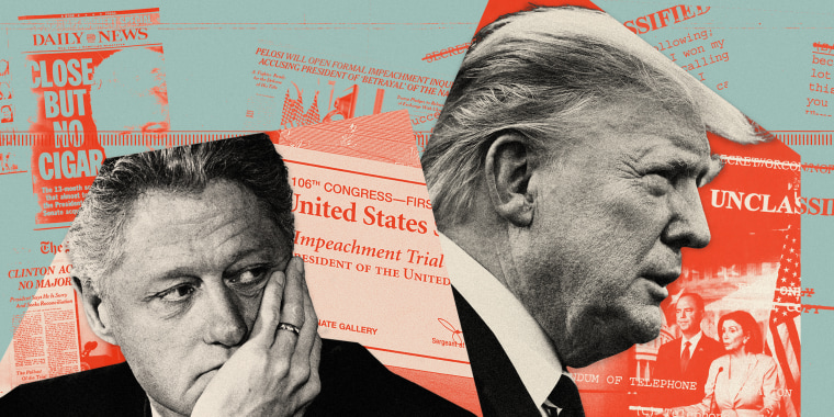 Image: A look at how President Donald Trump's handling of impeachment differs from the Clinton administration's in almost every way.