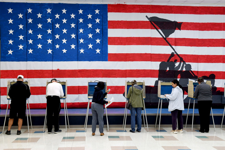 Image: Voters cast ballots at an elementary school in Midlothian, Va., on Nov. 5, 2019.