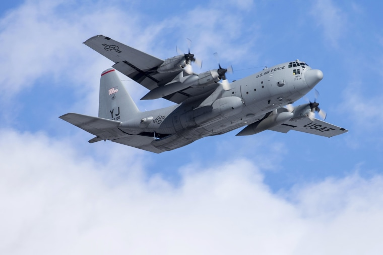 A C-130 Hercules aircraft