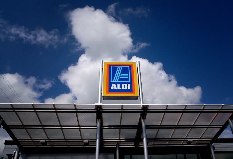 Image: An Aldi discount supermarket in Northwich, England, in 2008.