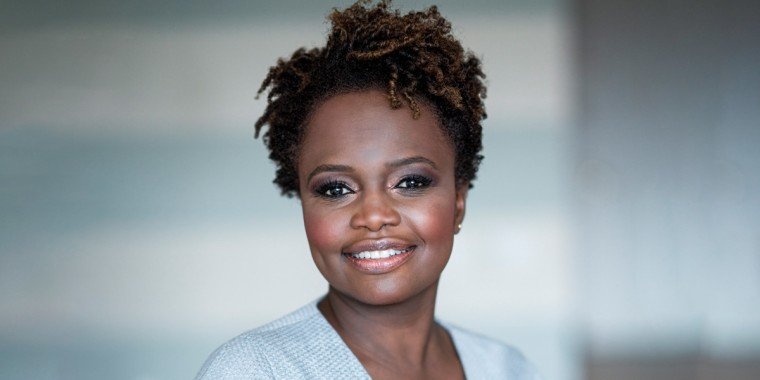 Karine Jean-Pierre, an MSNBC political analyst and chief public affairs officer for MoveOn.