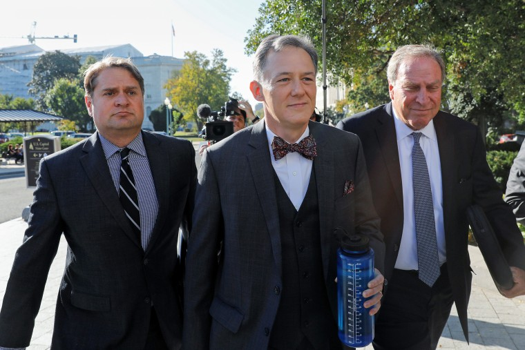 Image: George Kent arrives for closed-door deposition on Capitol Hill in Washington