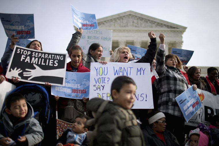 Image: Immigration Activists Rally In Front Of U.S. Supreme Court