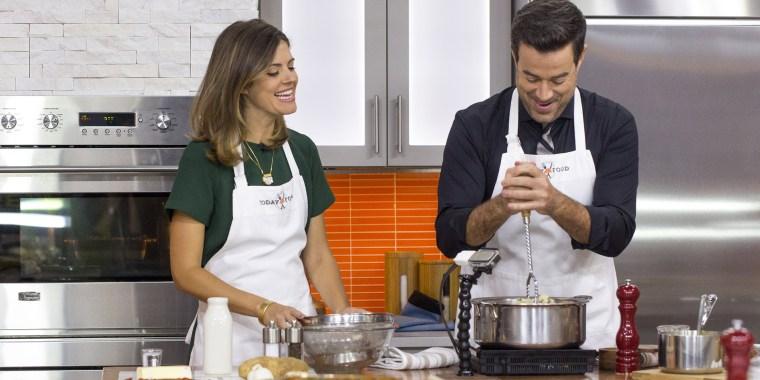 Image: Siri Pinter and Carson Daly's family recipes for green bean casserole and mashed potatoes with bacon and vodka