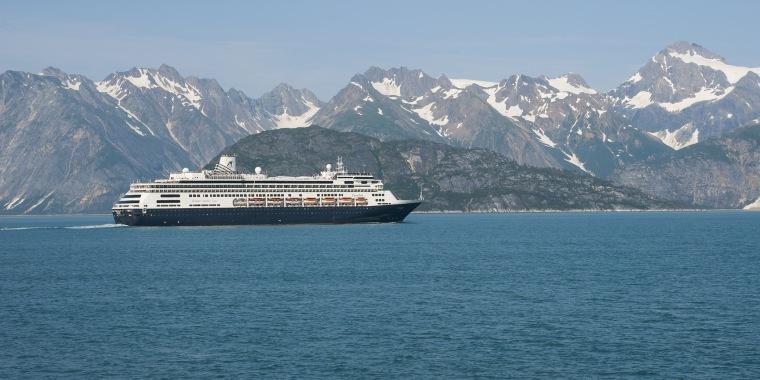 Holland America cruise ship Ms Zaandam in Glacier Bay