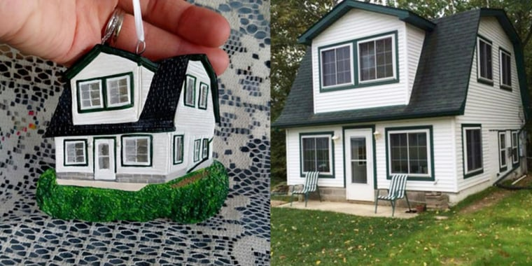 Looking for a unique holiday gift? These house ornaments might do the trick.