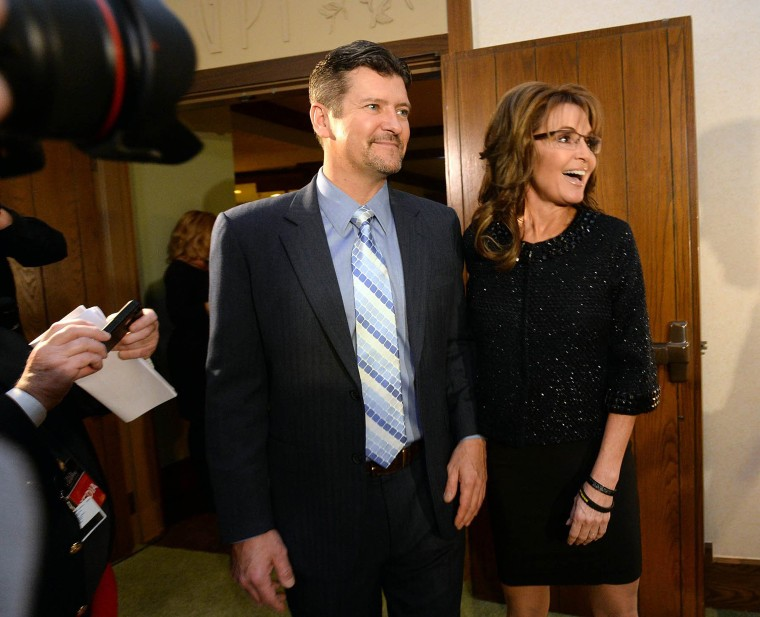 Image: Sarah Palin, right, former Governor of Alaska, and her husband, Todd