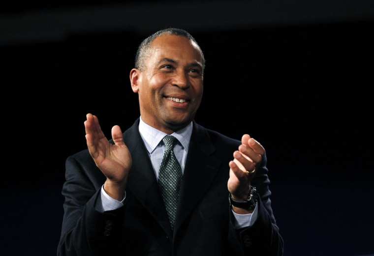 Massachusetts Gov. Deval Patrick at a mid-term election rally in Boston