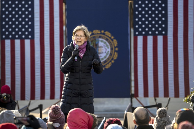 Image: Elizabeth Warren Files For NH Primary, Holds Town Hall