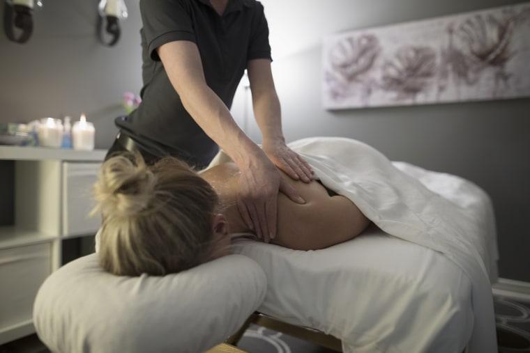 Image: Woman receiving massage