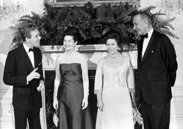 Image: Lord Snowdon, Mrs. Johnson, Princess Margaret and President Johnson,