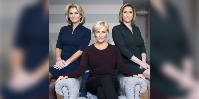 From left to right: Adrienne Elrod, Mika Brzezinski, Susan Del Percio