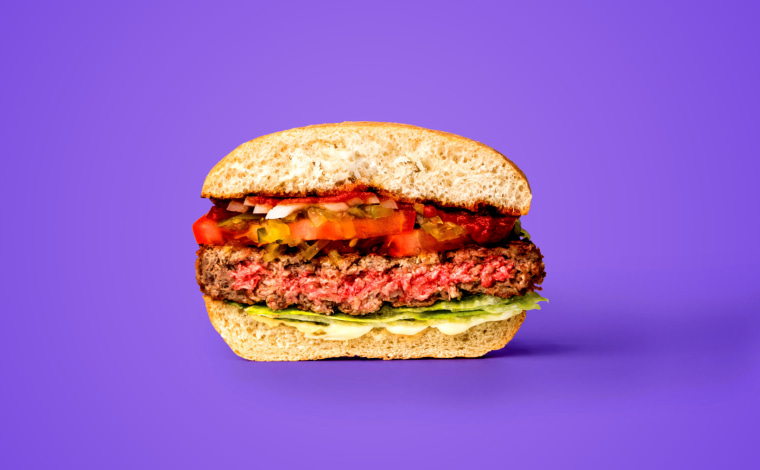 Image: The Impossible Burger is made with plant-based meat substitute.