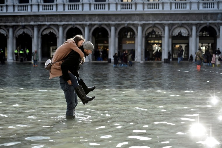 Image: Flooding in the lagoon city of Venice