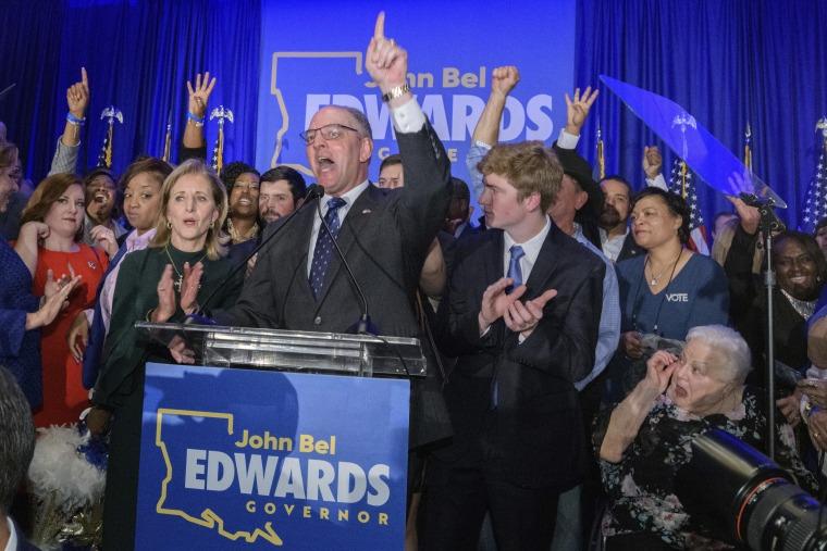 Democratic Louisiana Gov. John Bel Edwards wins re-election in blow to Trump
