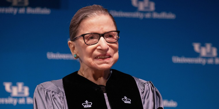 U.S. Supreme Court Justice Ruth Bader Ginsburg speaks at University of Buffalo School of Law in Buffalo, New York