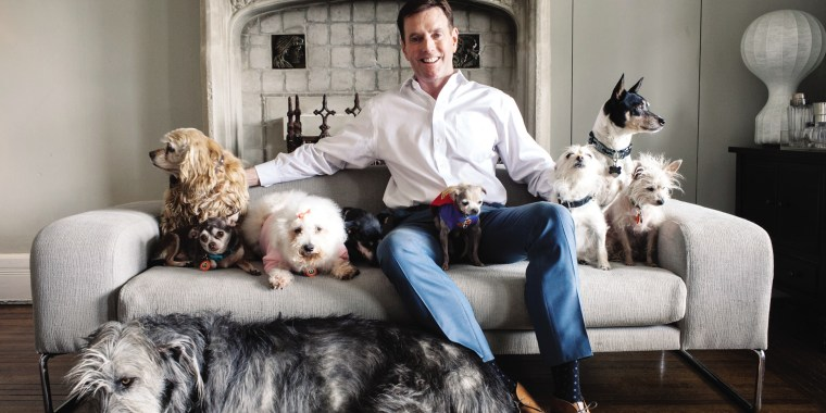 Steve Greig and his Wolfgang of senior pets