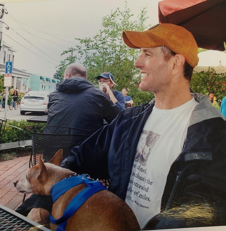 Steve Greig and his dog, Wolfgang