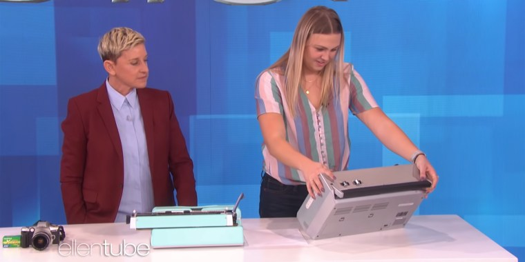 This week, Ellen DeGeneres offered 22-year-old graduate student Ariana Whitmarsh a chance to redeem her generation by successfully using a boombox, a typewriter and a 35 mm film camera.