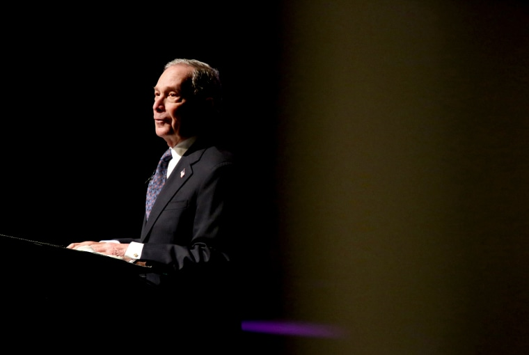 Image: Michael Bloomberg speaks at the Christian Cultural Center in Brooklyn on Nov. 17, 2019.