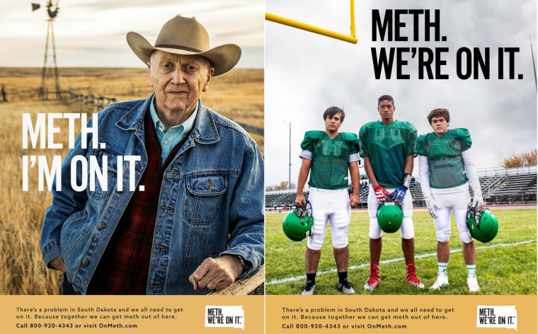 Images from South Dakota's anti-methamphetamine campaign.