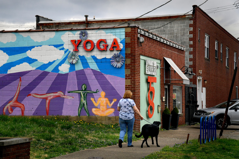 Image: A yoga studio in Huntington, W.V., on April 5, 2019.
