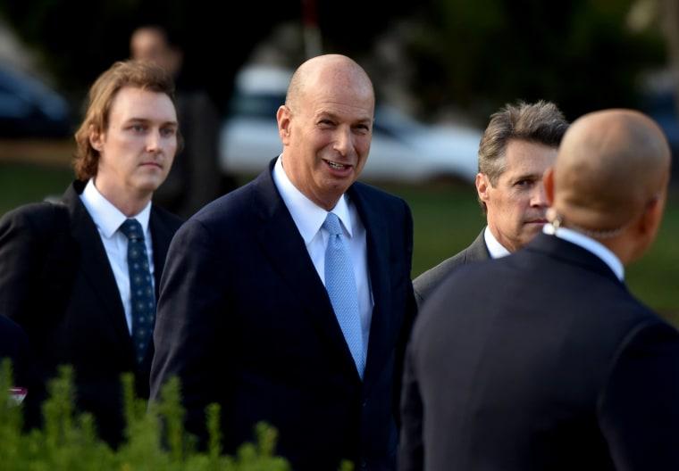 Image: Ambassador Gordon Sondland arrives at the Capitol on Oct. 17, 2019.