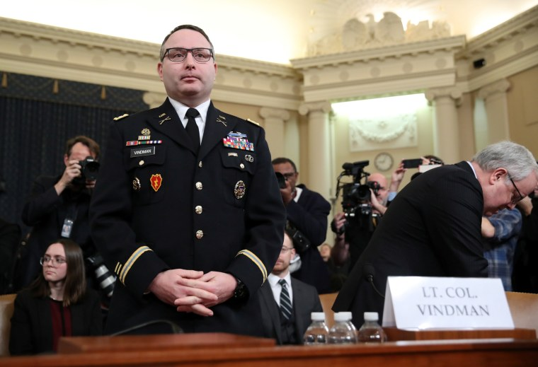 Lt. Col. Alexander Vindman's impeachment testimony made me proud to be a military spouse