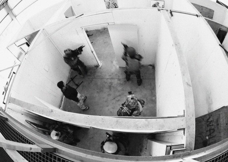 U.S. Navy SEALs conduct close quarters training