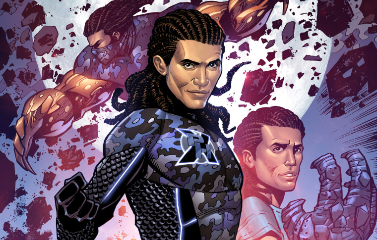 """PhenomX,"" a proposed comic book of a Latinx superhero that will be produced by actor and producer John Leguizamo and  Edgardo Miranda-Rodriguez."