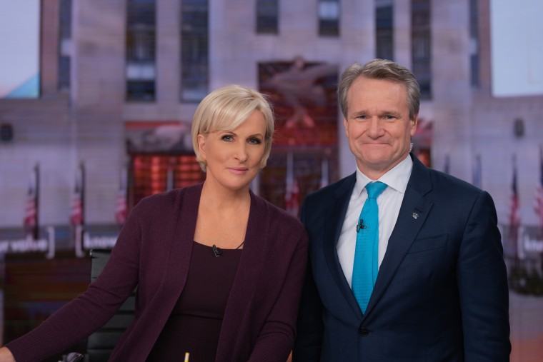 """Know Your Value founder and """"Morning Joe"""" co-host Mika Brzezinski and Bank of America CEO Brian Moynihan."""