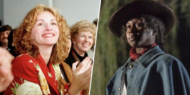 "Julia Roberts in 1994, and Cynthia Erivo as Harriet Tubman in ""Harriet."""