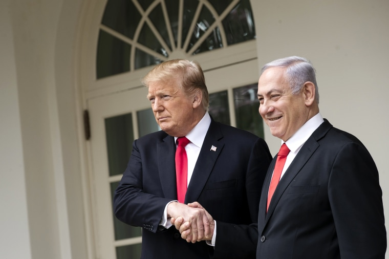 Image: President Donald Trump Welcomes Iraeli Prime Minister Benjamin Netanyahu To The White House
