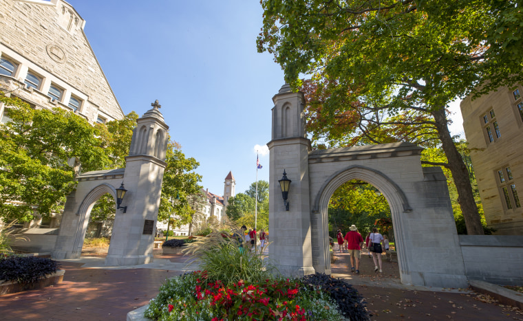 The Sample Gates on the campus of Indiana University in Bloomington.