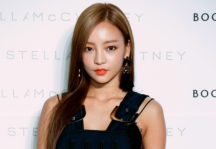 Image: Goo Hara attends an event in Seoul, South Korea, in 2015.