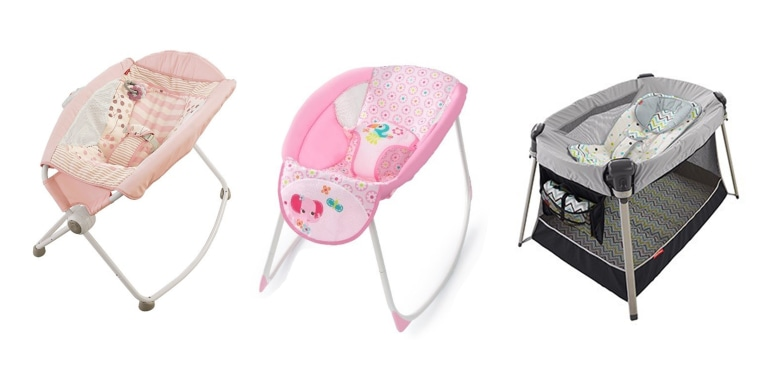 The Fisher-Price Rock 'n Play Sleeper, the Kids II rocking sleeper and the Fisher-Price inclined sleeper accessory were among products sold at TJX retailers after they were recalled.