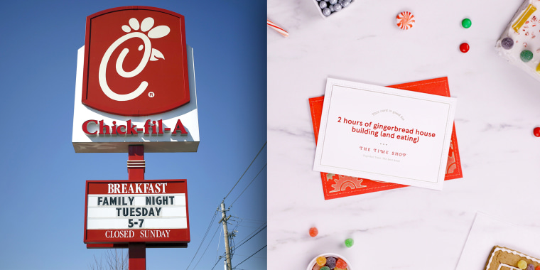 On Wednesday, Chick-fil-A launched a website called The Time Shop that allows people to create custom cards for their loved ones.