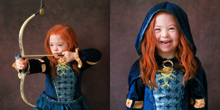 "Chloe Lennon, 6, looks just like Merida from ""Brave"" in these beautiful photos."