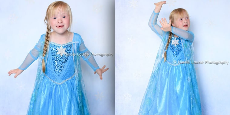"Lauren Rusler, 6, tries to ""Let it Go"" as Elsa from Disney's hit movie ""Frozen."""