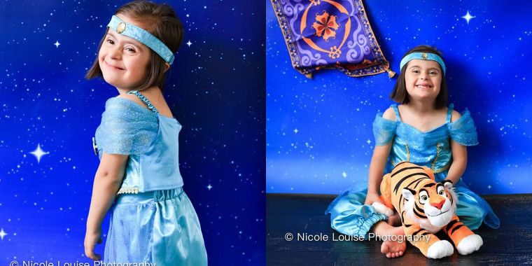 "Maryam El-Khamisi, 7, looks beautiful as Jasmine from ""Aladdin."""