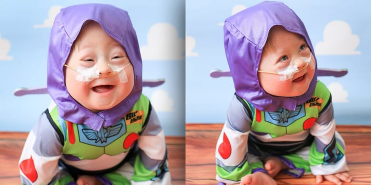 Rory Haywood, 1, makes the cutest Buzz Lightyear ever!