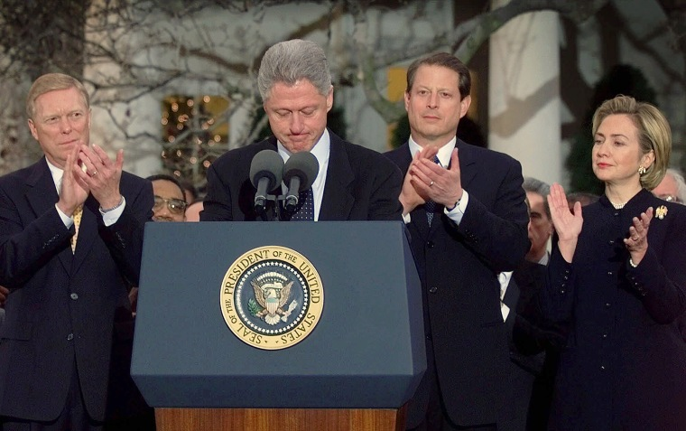 why was bill clinton impeached