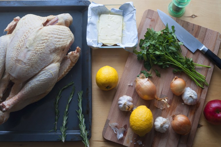 Preparing traditional turkey