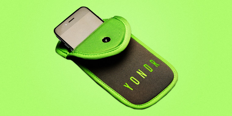 Image: A company called Yondr has developed soft pouches that keep people from accessing their devices during shows
