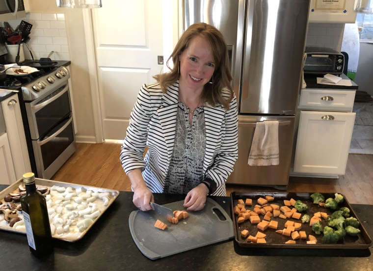 Jennifer Folsom focuses on preparing healthy meals with lots of veggies and protein.