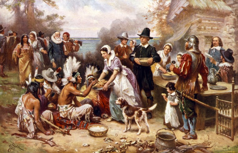 Image: The first Thanksgiving 1621