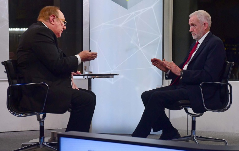 Image: Britain's Labour Party leader Jeremy Corbyn as he appears on the BBC political programme The Andrew Neil Show o