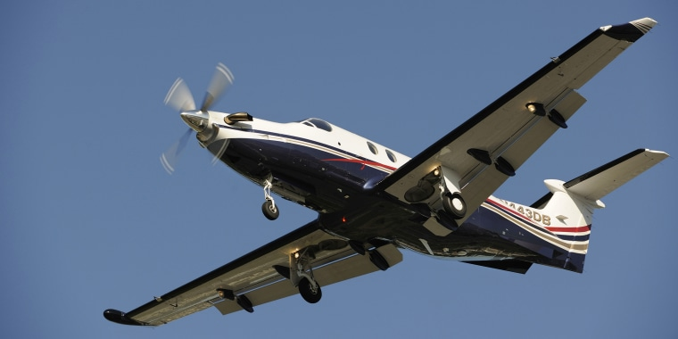 File photo of Pilatus PC-12 plane.