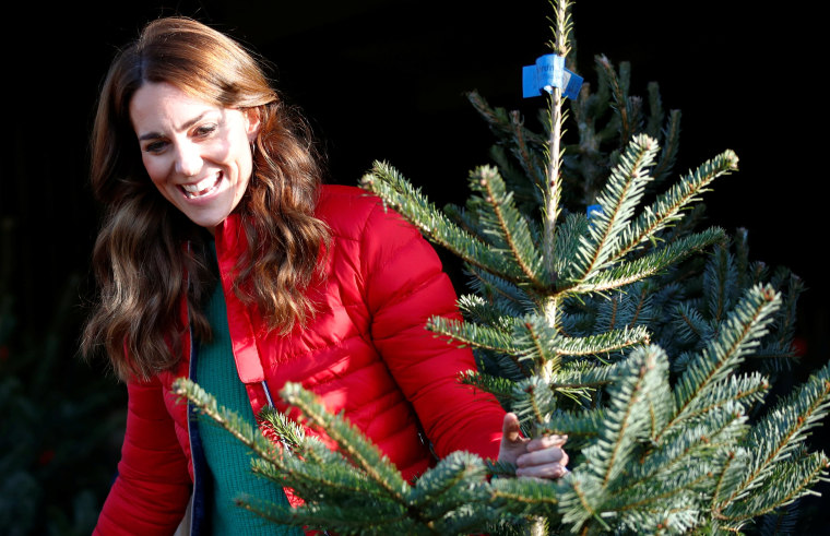 Image: Britain's Catherine, Duchess of Cambridge, visits Peterley Manor Farm in Buckinghamshire
