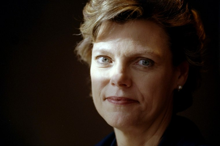 News anchor Cokie Roberts.